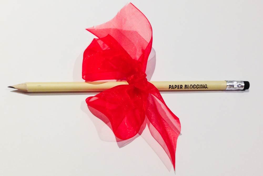 Pencil paper blogging